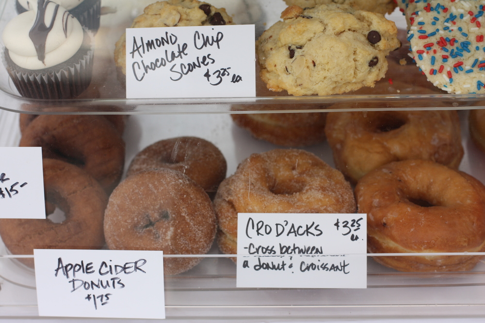 Fresh baked goodies at the Schroon Lake Farmer's Market every Monday!