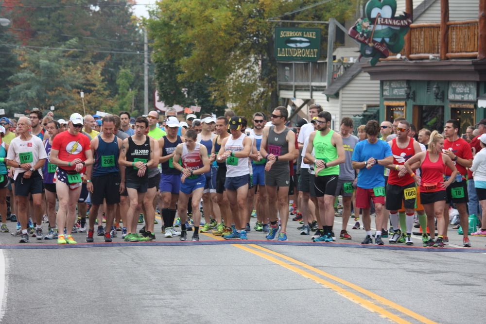 Just before the start of the 2014 marathon