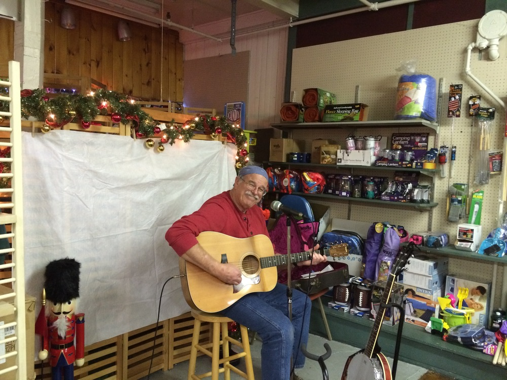 Dave Insall playing at the Towne Store.
