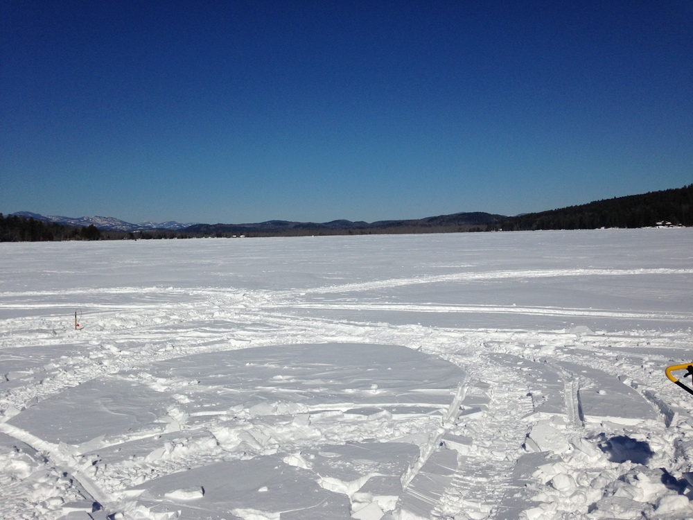 Winter 2015. Looking our from the Town Boat Launch. Schroon Laker Collection.
