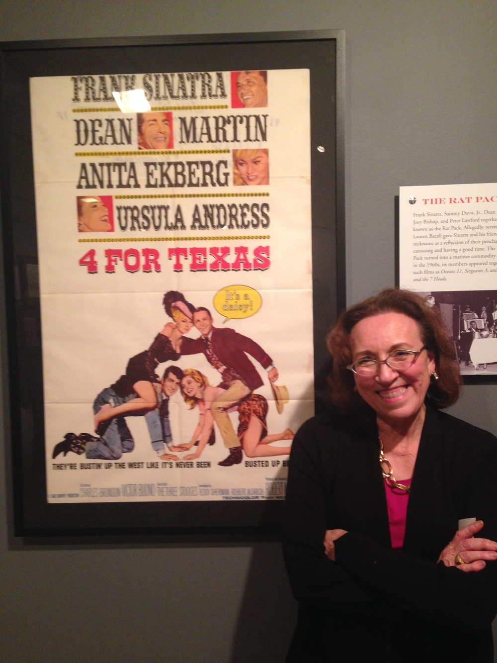 Emily Rossi-Snook with a poster from The Strand.