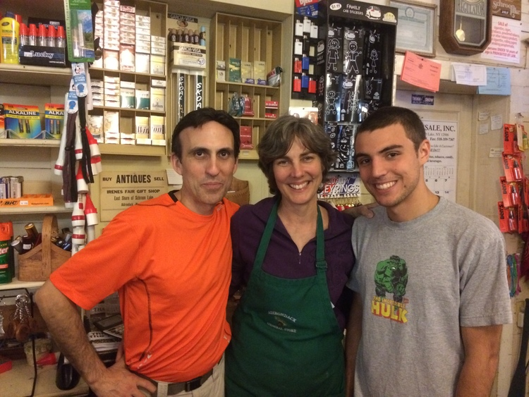 Robert, Maureen and Oliver at their store in the summer of 2014. Schroon Laker Collection. All Rights Reverved