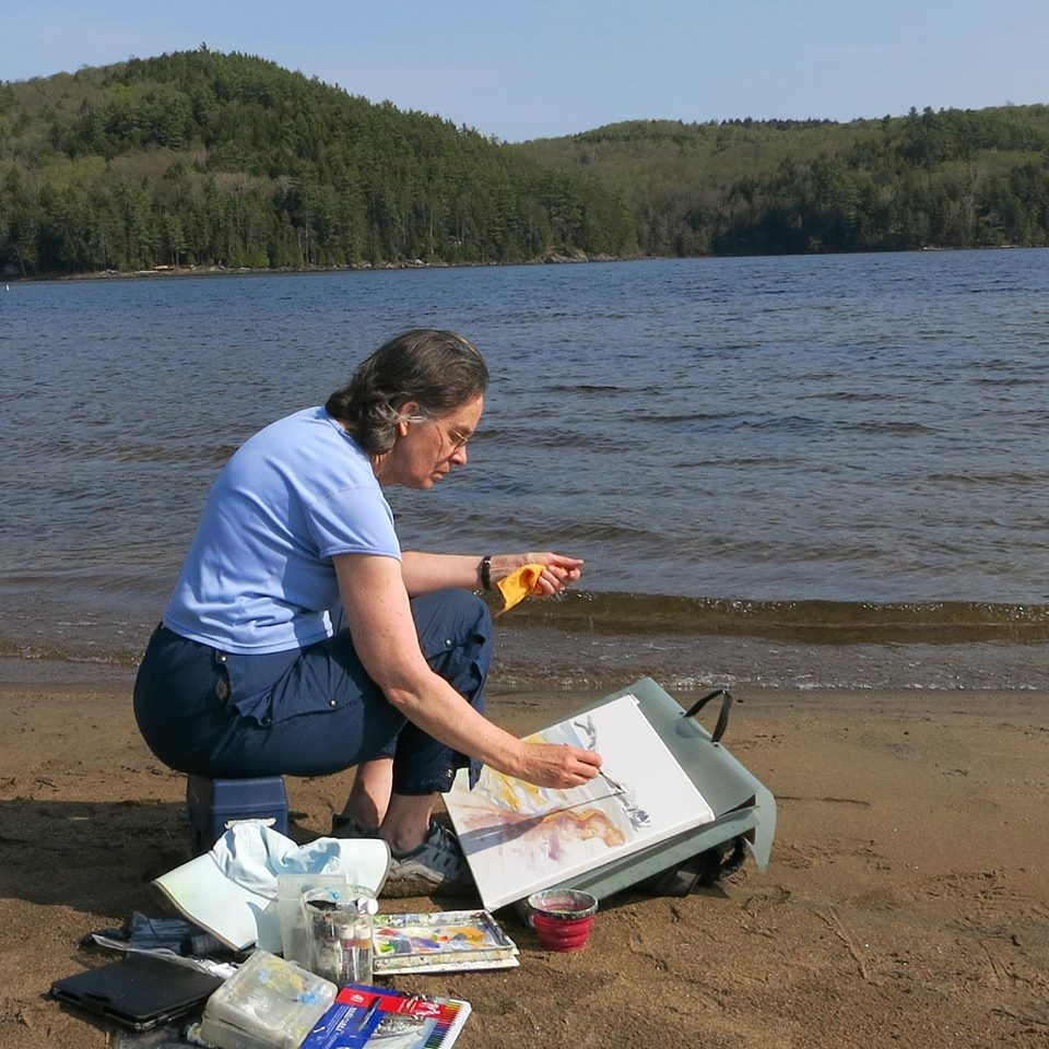 Anne on the shore of schroon Lake