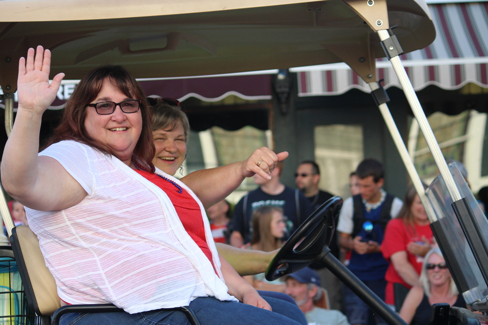 Tammy Whtity-Brown in the 2016 Schroon Lake July 4th Parade