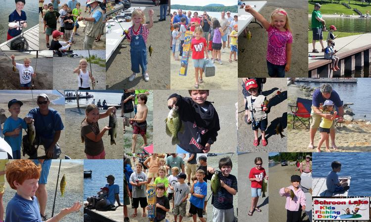 Montage of previous the Kids Fishing Derby