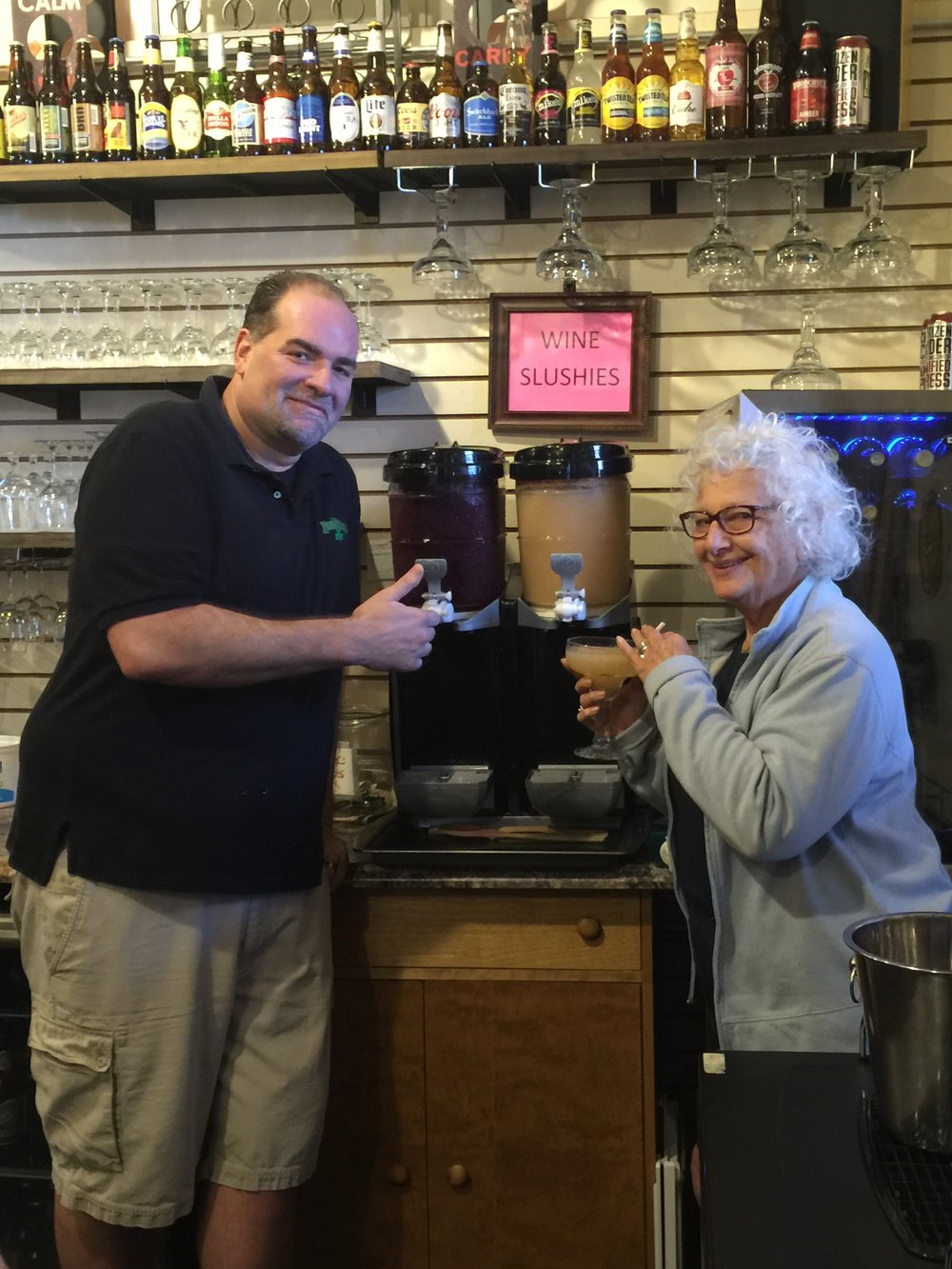 Mike and Merle and the 1,000th Wibne Slushie