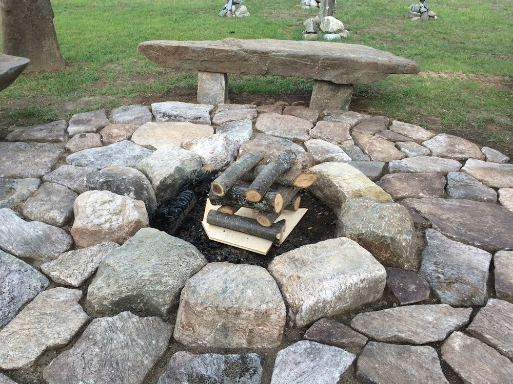 The fire pit at Sticks and Stones.Schroon Laker Collection. All Rights reserved.