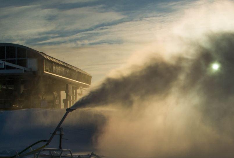 Snow Making at Gore Mountain. Photo courtesy of Gore Mopuntain
