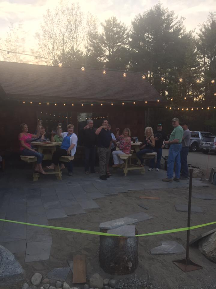 A new outdoor patio has been completed at Sticks and Stones