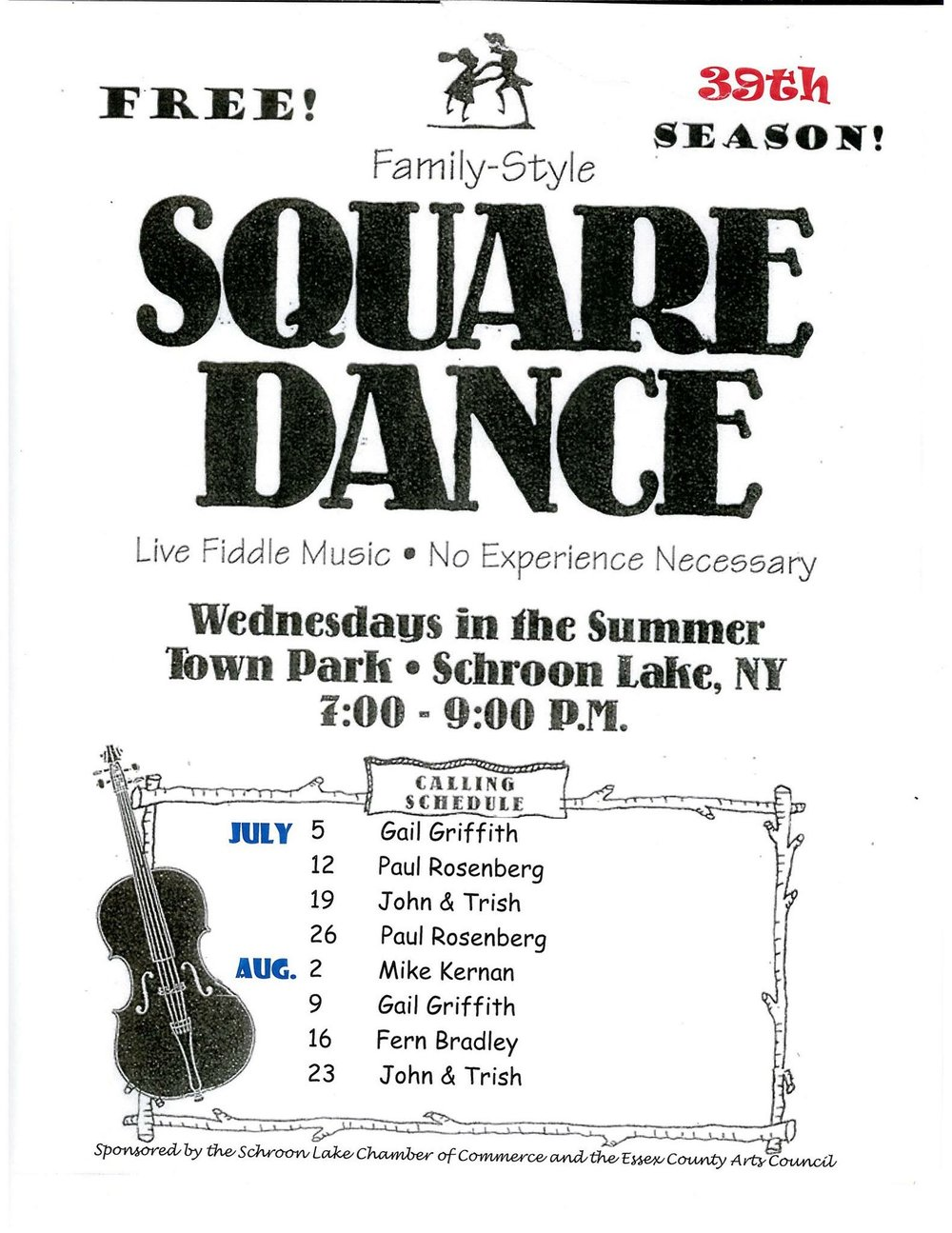 Gail Griffin calls next Wednesday's Dance. So save the date, only three chances left!