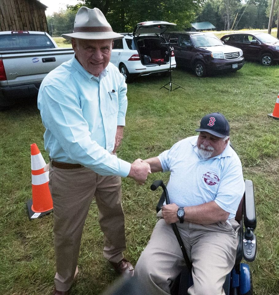 Schroon Lake Town Manager Mike Marnell with the President of the Schroon Lake Association, Mark Granger