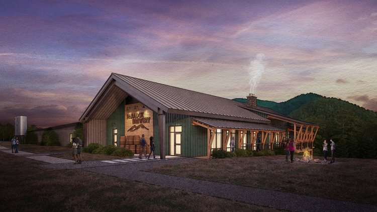 Artist' rendering of the new brewery at north hudson