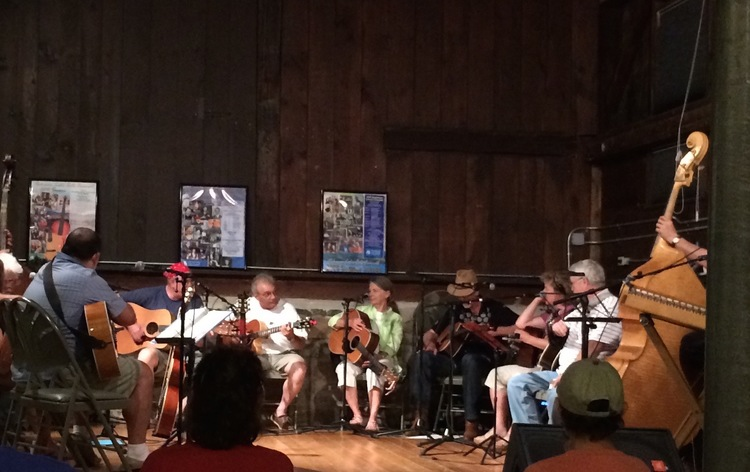 The acoustic BoatHouse Jam: EveryMonday night at the Boat House on Dock Street. Proudly sponsored by the Schroon Lake Arts Council.