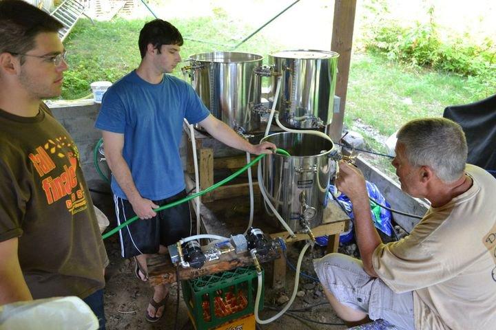Paul as a home brewer.