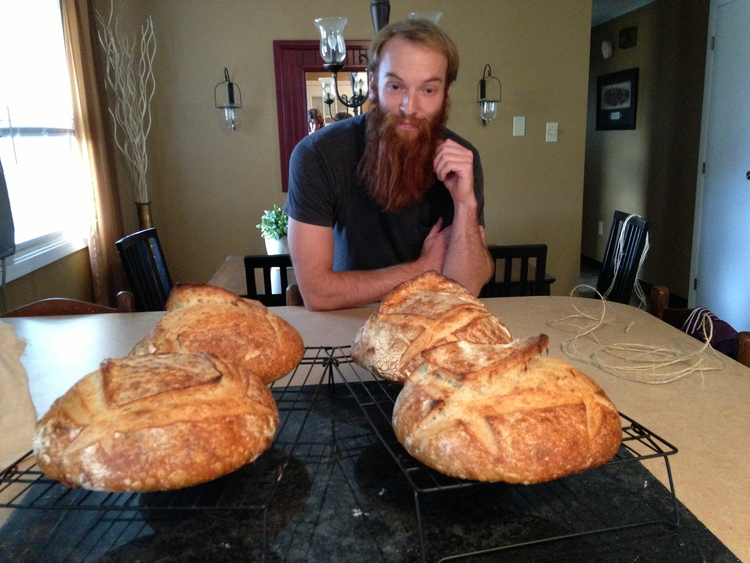 throwback: matt as the bearded baker in schroon