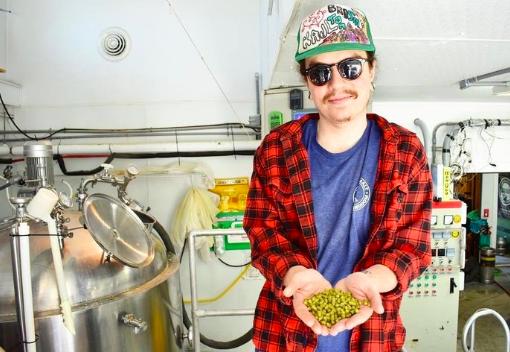 """Dalton """"Quattro' Wilson debut beer was   Peaches N' Cream."""
