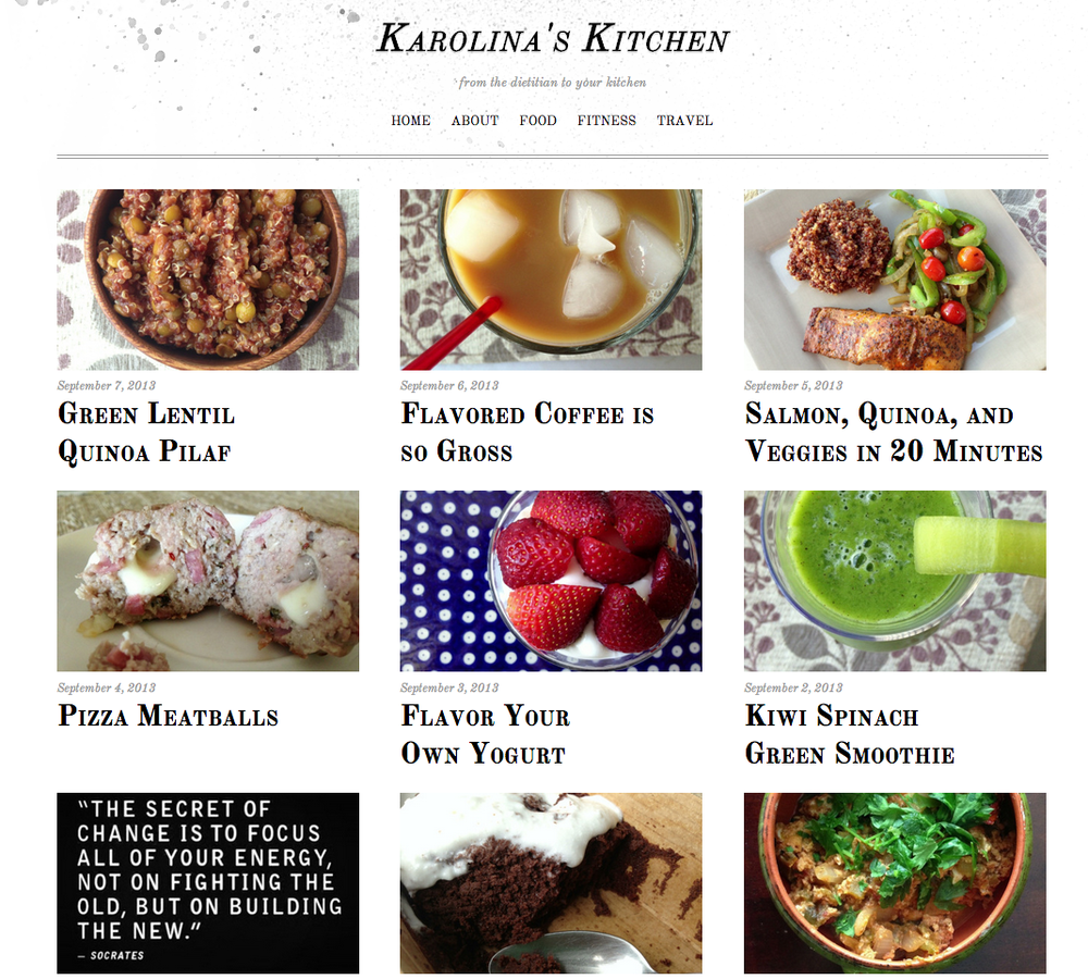 Our new co-host and Registered Dietician, Karolina Balkenbush, has her own food black, check it out!