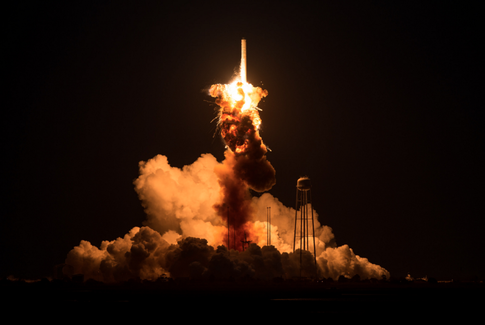 On October 28th, 2014, NASA's ATK Antares rocket exploded on takeoff (copyright NASA). Click on the image to see more images from the explosion!