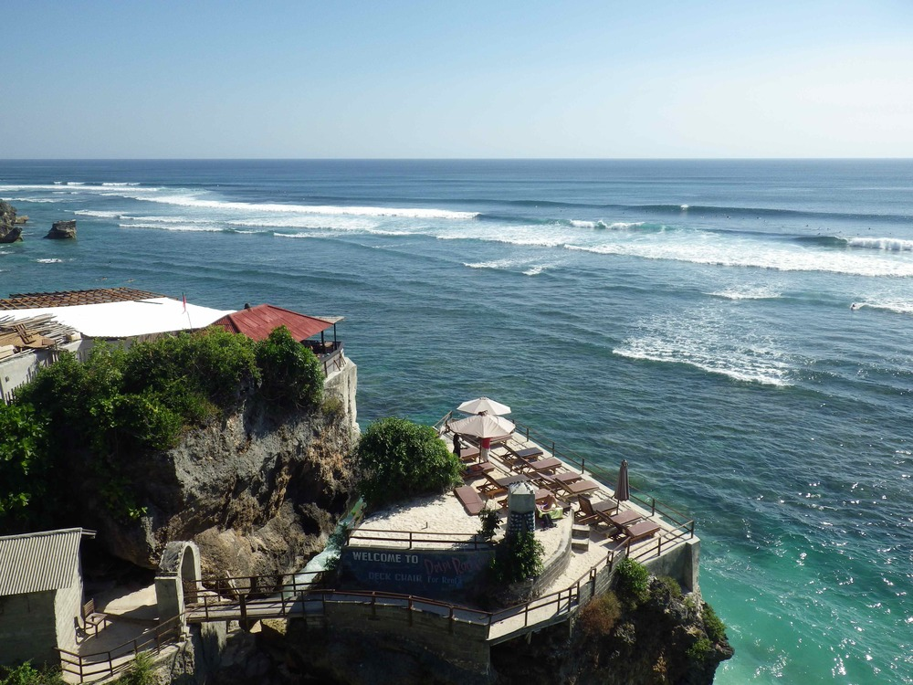 Looking out at Uluwatu
