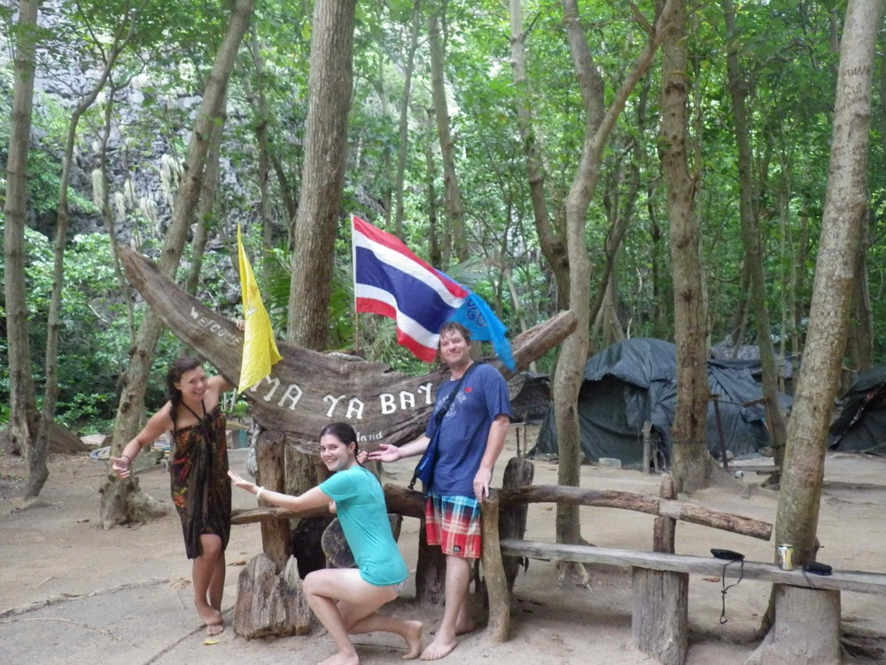 Three Intrepid Travelers on Koh Phi Leh