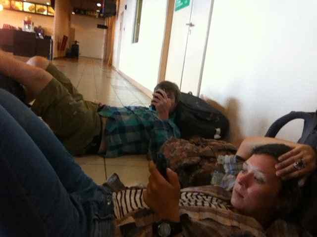Chilling in the Kota Kinabalu airport