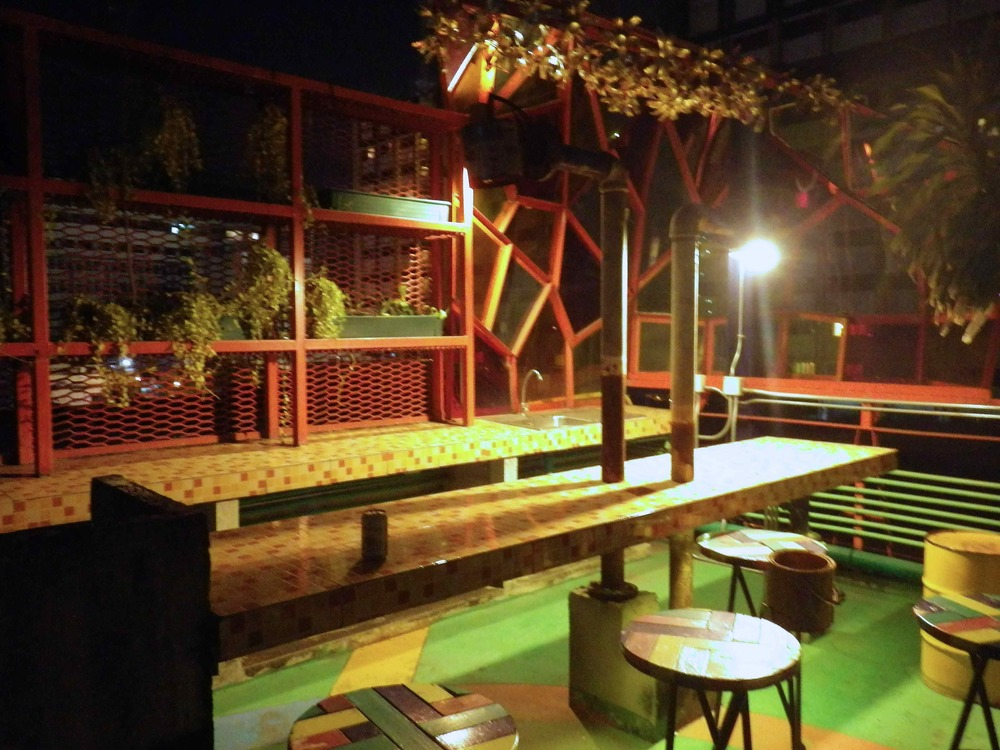 Silom Art Hostel rooftop