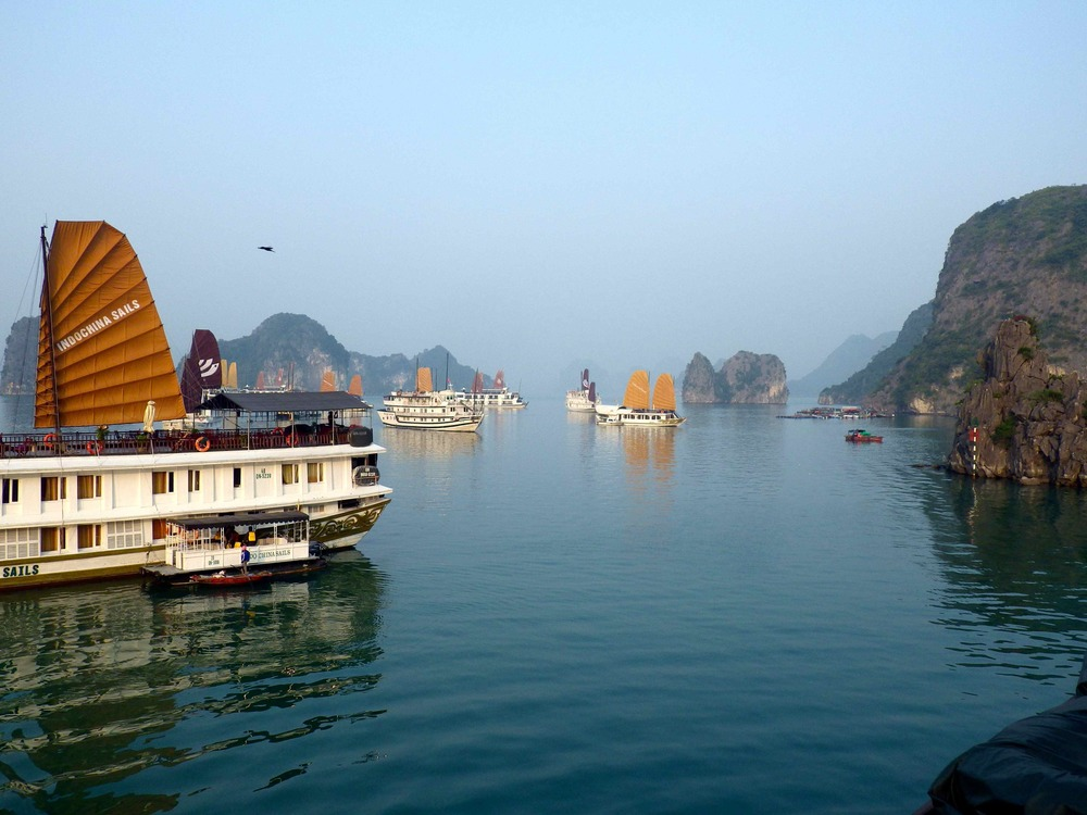 Sunrise over Ha Long Bay