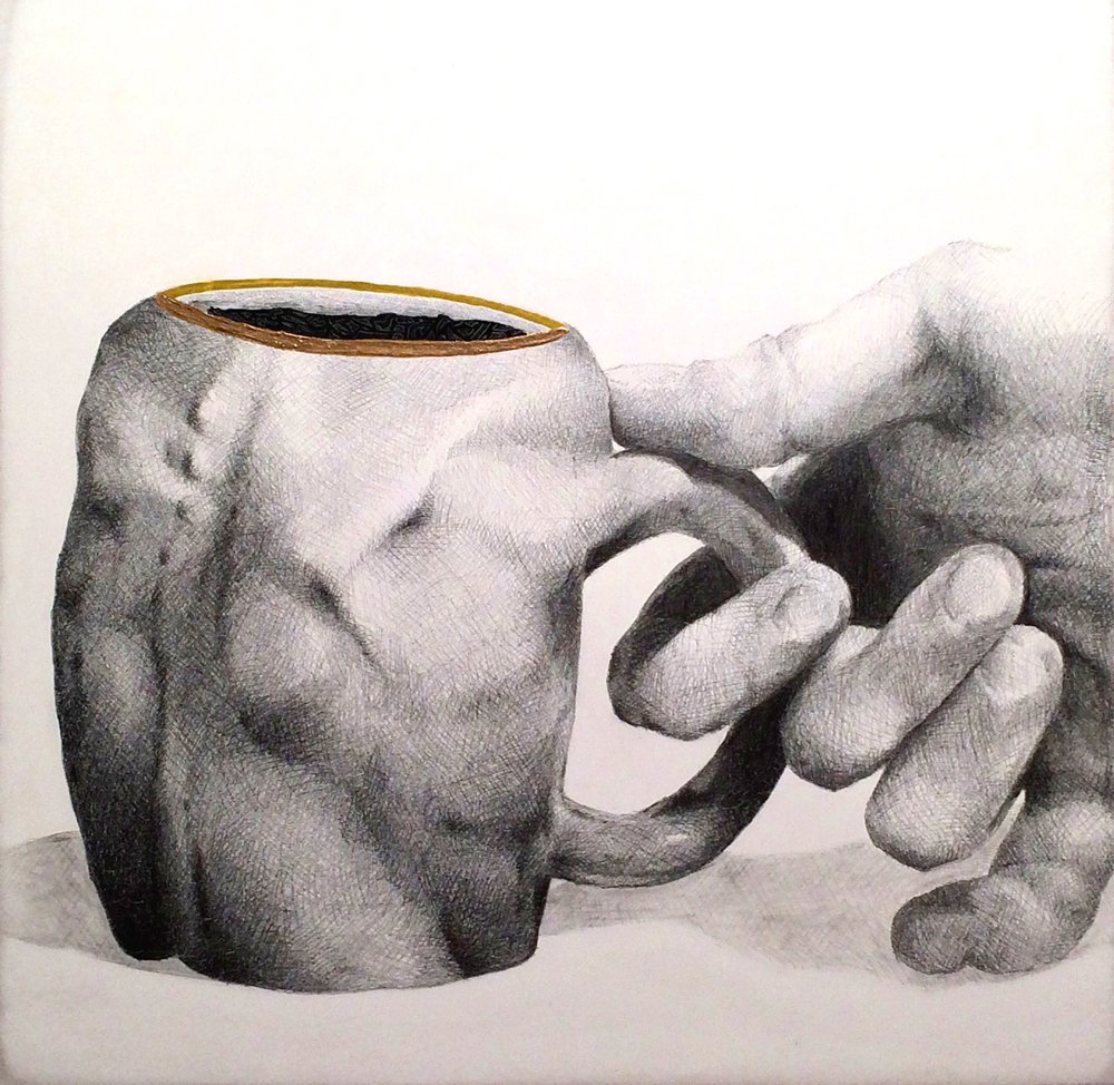 PromisingFiscalQuarter_jackNicoll_coffeeCup_humanBody_graphite_drawing_fineArt_06242016