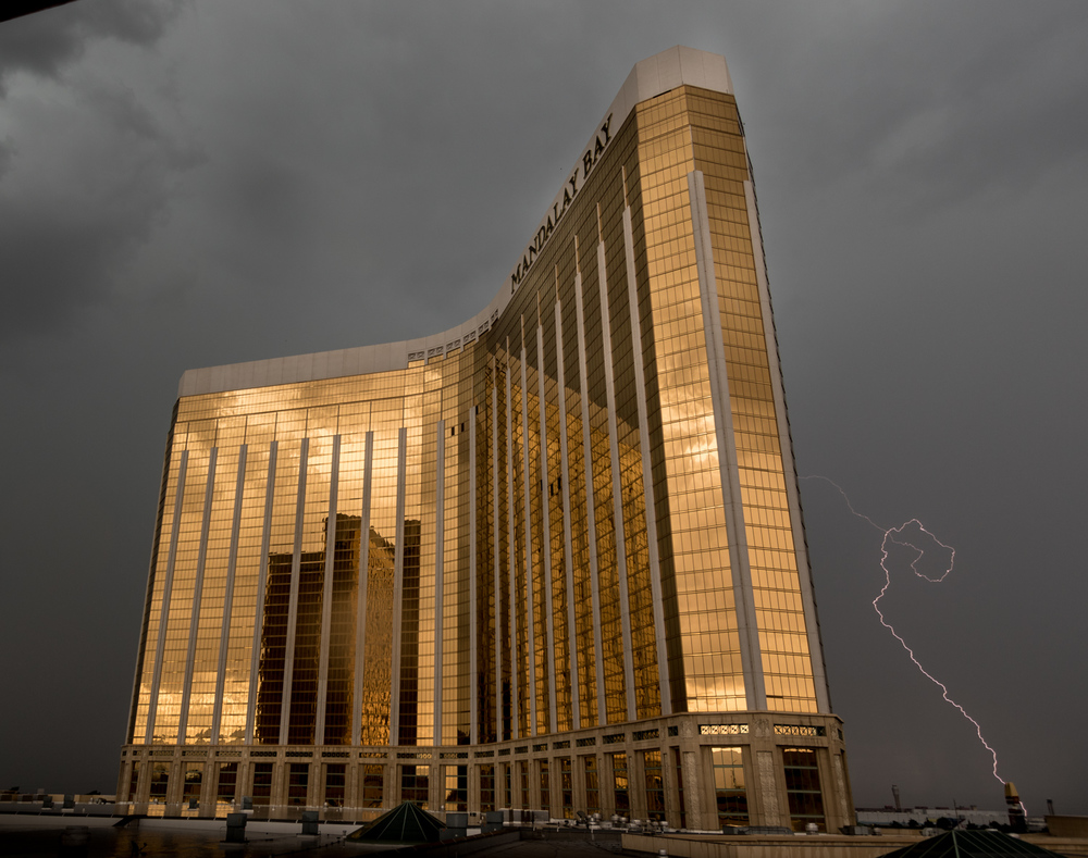 Lightning strikes in Vegas