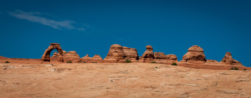 Delicate Arch on the horizon