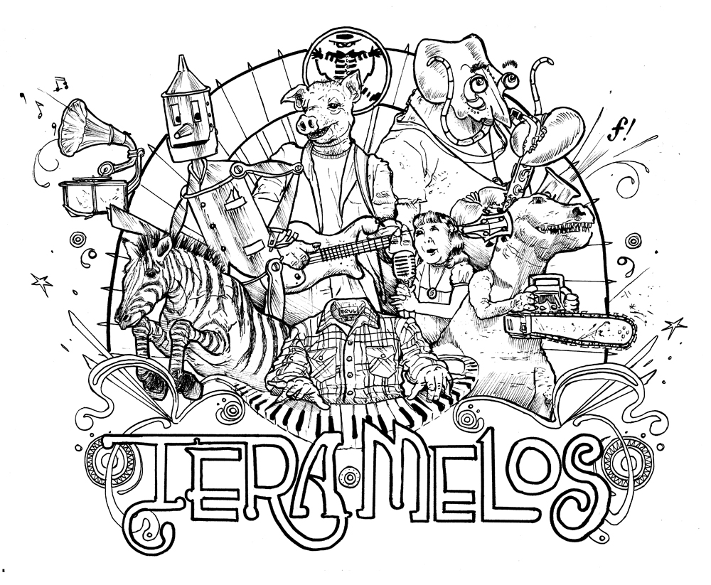 'Untitled' tee design for Tera Melos bundle.