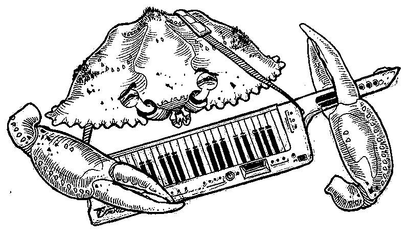 TERA MELOS: Crab Keytar (tee design)