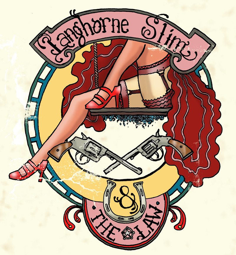LANGHORNE SLIM and THE LAW : Leggy Lady (tee design)