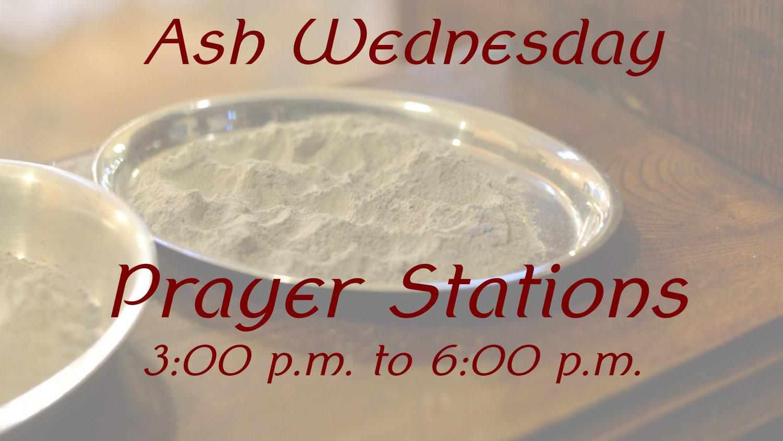 Ash Wednesday Prayer Stations — Milagro Christian Church