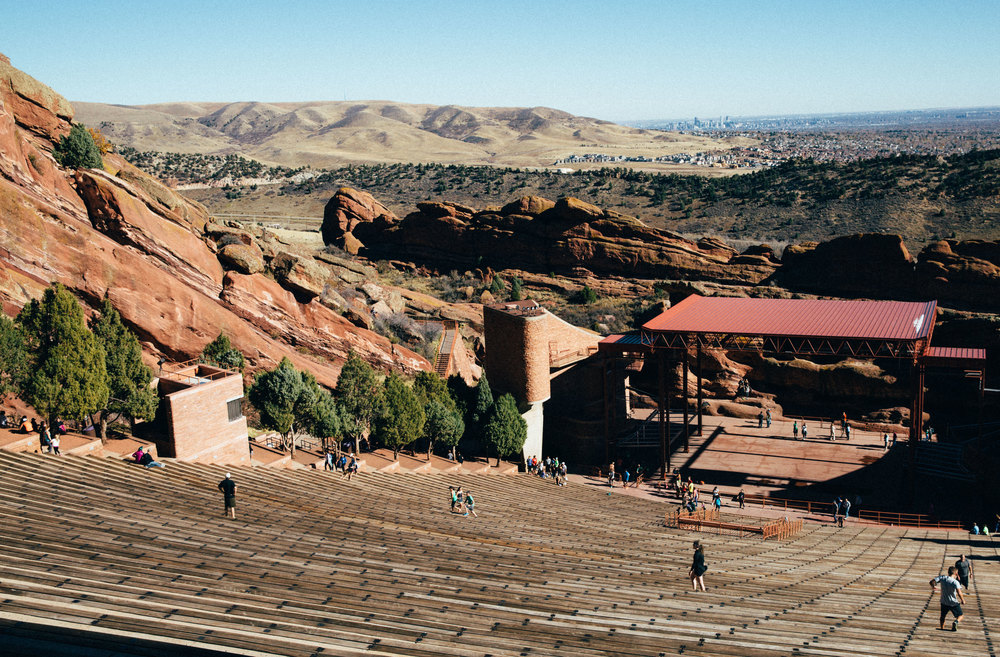 Red Rocks Amphitheater - what a beautiful and natural venue to see a show.