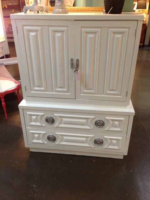 Glossy White Dresser  $375