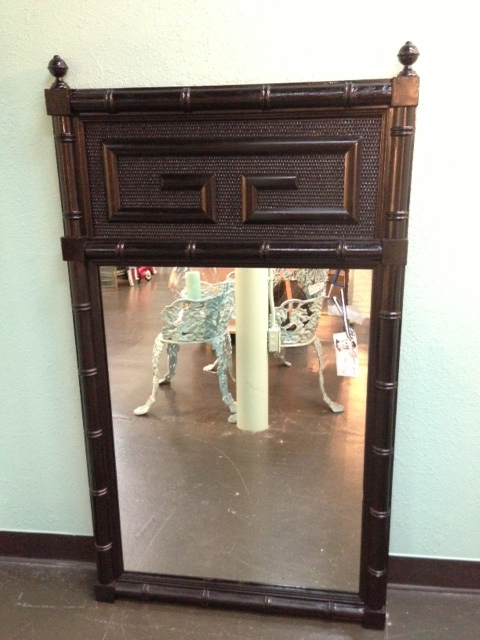 Black Chinoiserie Mirror  $175