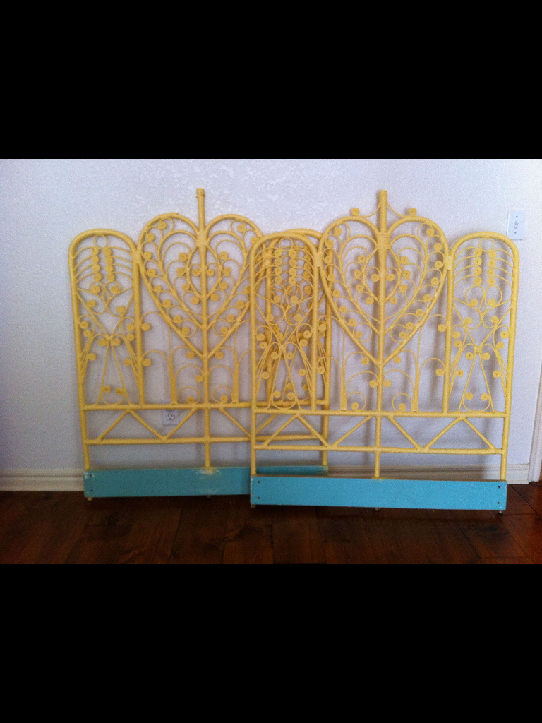 Yellow Single Headboard   $60