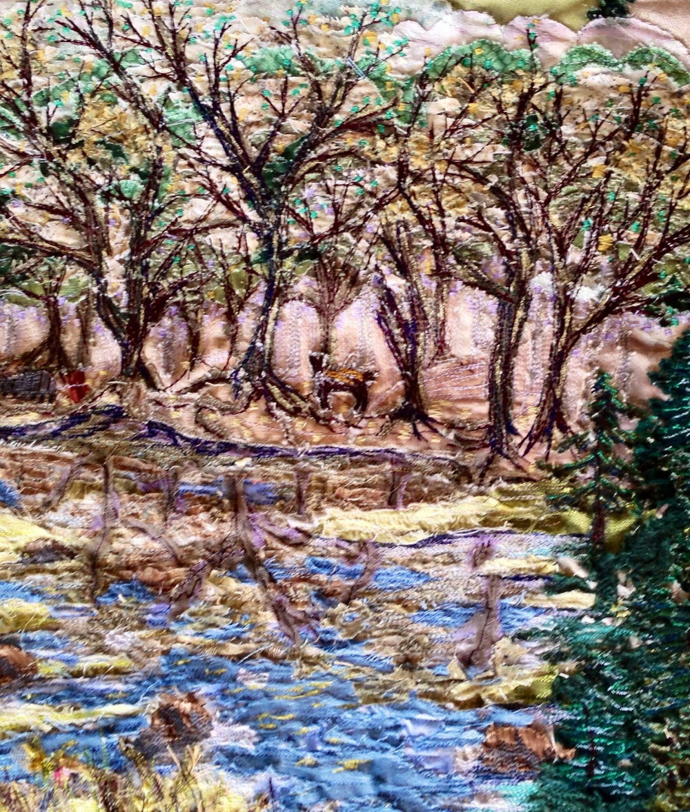 Close up of trees & pond of 'County Rd. 12, Prince Edward County'