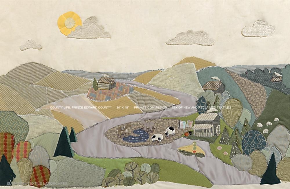 Landscape Textile Art County Life.JPG