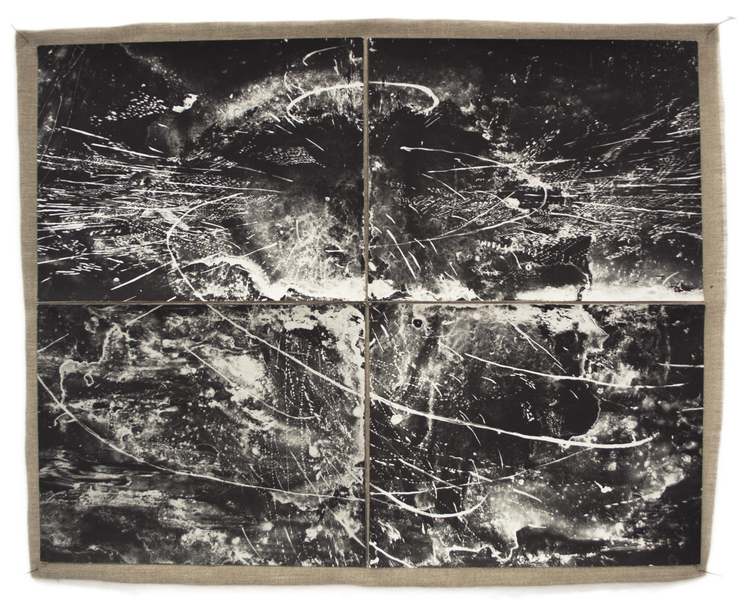 "Paradigm , cliché-verre,gelatin silver print mounted on linen, 22x28"". 2015"