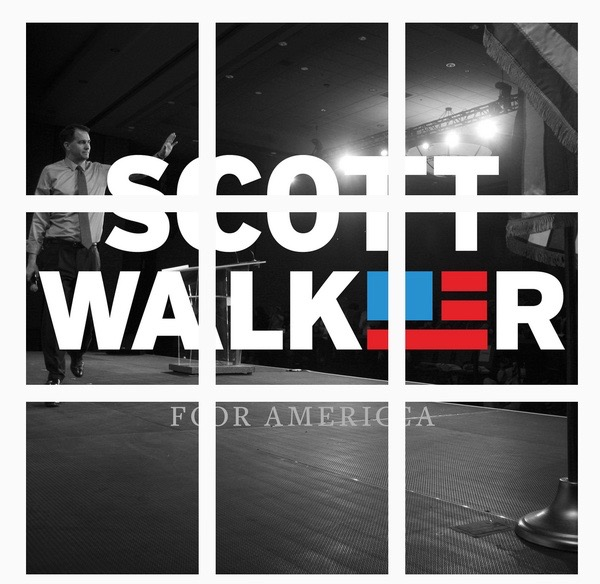 Scott Walker's clever Instagram logo reveal.