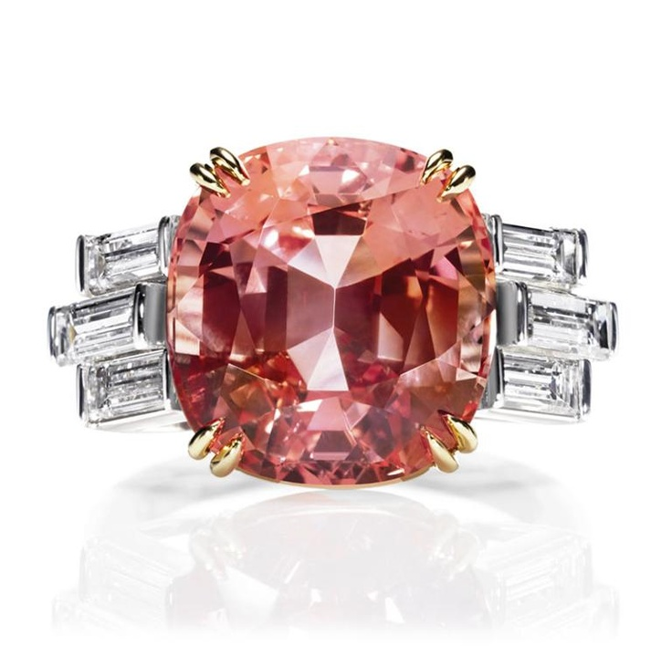 Padparadscha Sapphire Ring by Harry Winston