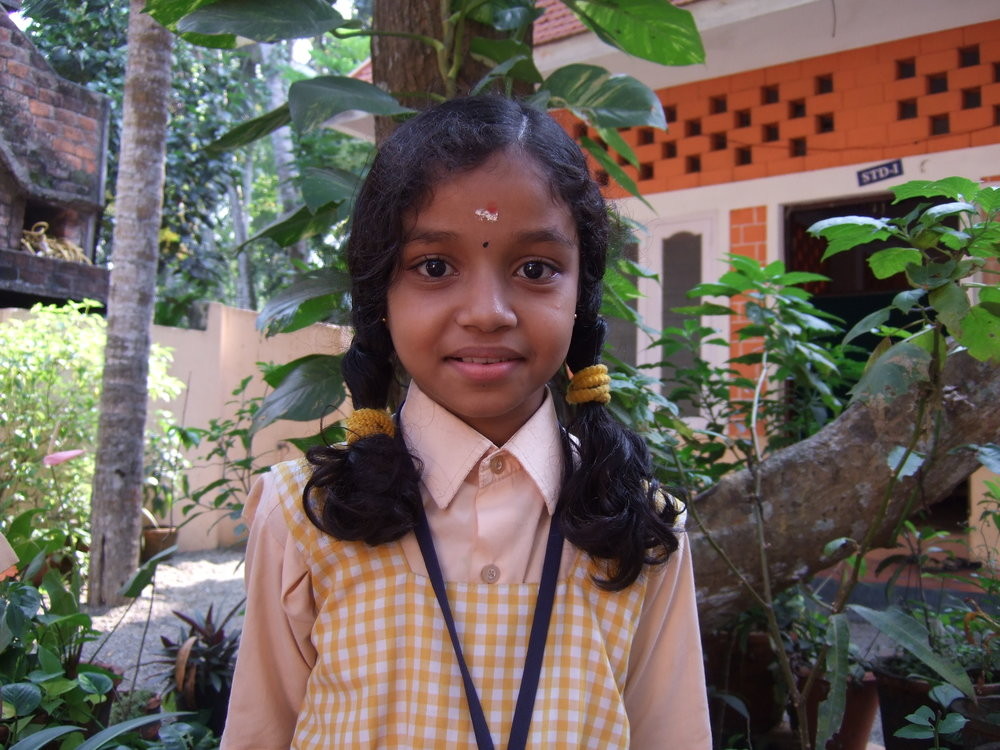 Jyothirmayi from school in Kerala, India