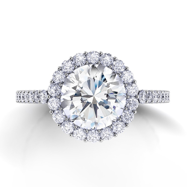 Custom made Cushion Cut Engagement Ring