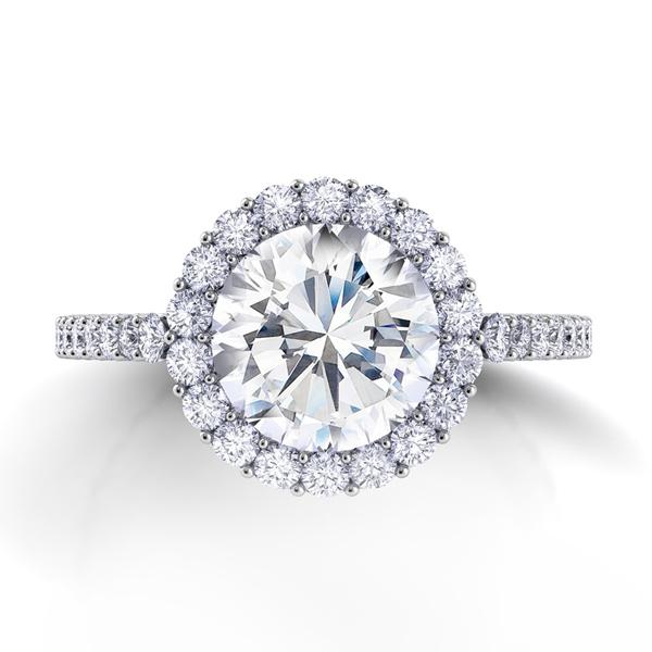Custom made Cushion Cut Engagement Ring