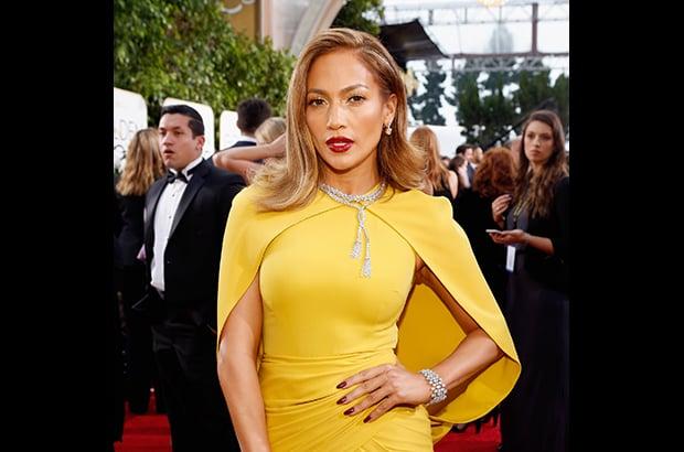 Jennifer Lopez dressed in 200 carats of Harry Winston diamonds.