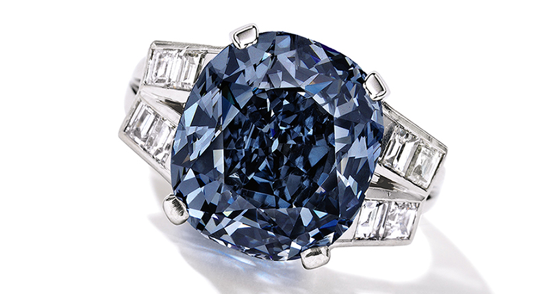 Shirley Temple's father bought her this 9.54-carat fancy deep blue diamond in 1940, and it remained in her possession until her death in 2014. The stone's expected to sell for as much as $35 million next month at Sotheby's New York.