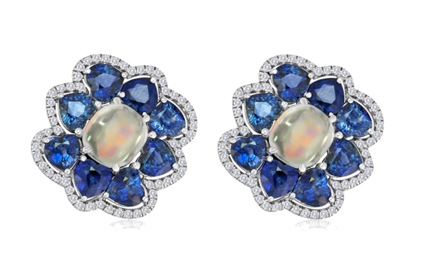 Moonstones TW 7.40 CT's Sapphires TW 13.28 CT's 117 diamonds TW 0.63 CT's Please inquire about price.
