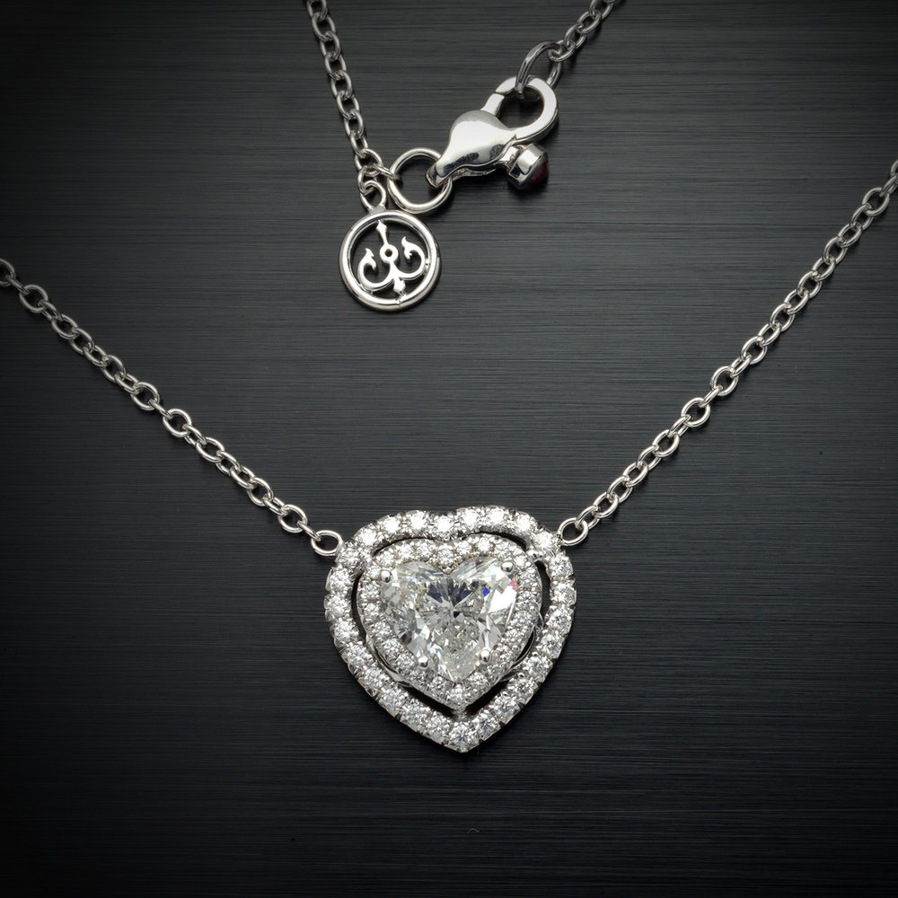 heart pierce diamond shape classic product set pendant marshall bezel